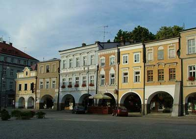 Renaissance houses on the main square of Litomyšl