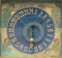 Clockface on the Litomysl town hall