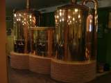 Copper brewing tanks at St Wenceslas microbrewery (svatovaclvsky pivovar) in Olomouc